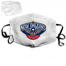 VNN Store Reusable Face Balaclava Mouth Cover Facial Decorations Bandanas New Orleans Pelicans Emblem Scarf Masks with 2 filters for Women and Men-Halloween Christmas Gifts for NBA Team New Orleans Pelicans face mask