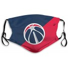 Basketball Team Mask Face Shield for Men Kid Washable Reusable with 2 Filter Stitching Color Washington Wizards Team Small for NBA Team Washington Wizards face mask