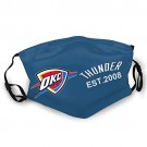 Oklahoma City Thunder Dust Washable Reusable Filter and Reusable Mouth Warm Windproof Cotton Face Black for NBA Team Oklahoma City Thunder face mask