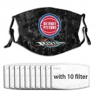 Summer Adjustable Dust Cover with 5 Layers Activated Carbon Filter Breathable for NBA Team Detroit Pistons face mask